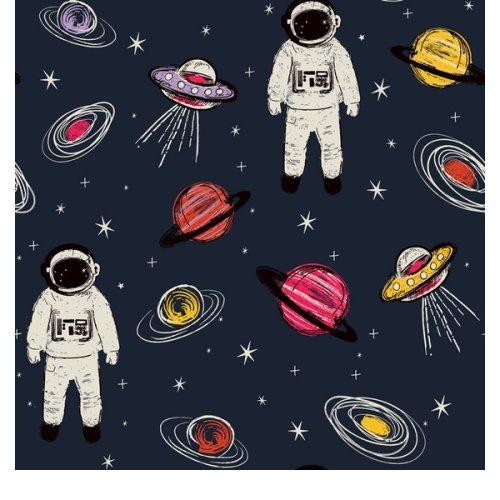 Spaceman,  Kids Wallpaper - Navy