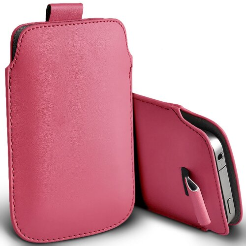 Nokia 5310 (2020) Baby Pink Pull Tab Sleeve Faux Leather Pouch Case Cover (XL)