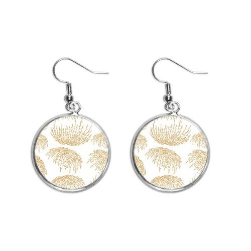 White Japanese Culture Autumn Ear Dangle Silver Drop Earring Jewelry Woman