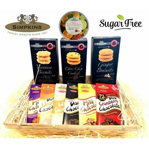 Simpkins Sugar Free No Added Sugar Gift Hamper Box Basket Sweets