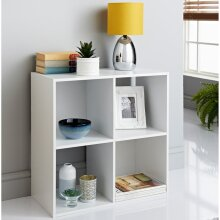 Fabulous Lokken 4 Cube Shelving Unit Add Some Elegant Storage Space To Your Home - White