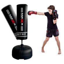Kids Free Standing Boxing Set Punch Bag Set MMA Martial Art Junior Maxx Black