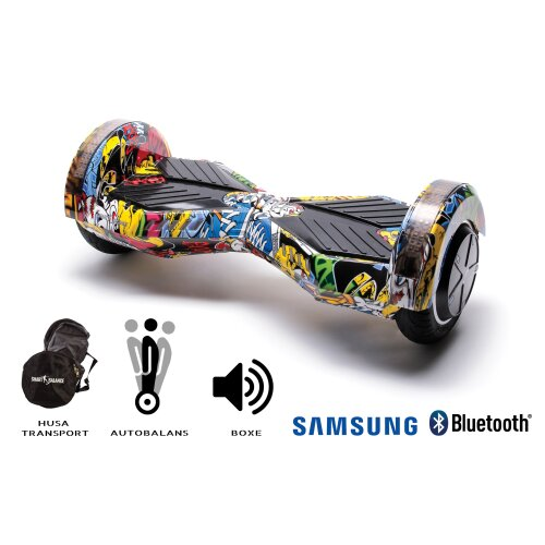 Hoverboard Smart Balance™ Premium Brand, Transformers_HipHop, 8 inch, Bluetooth, Samsung Cell battery, Built-in speakers, AutoBalans, 700W, LED
