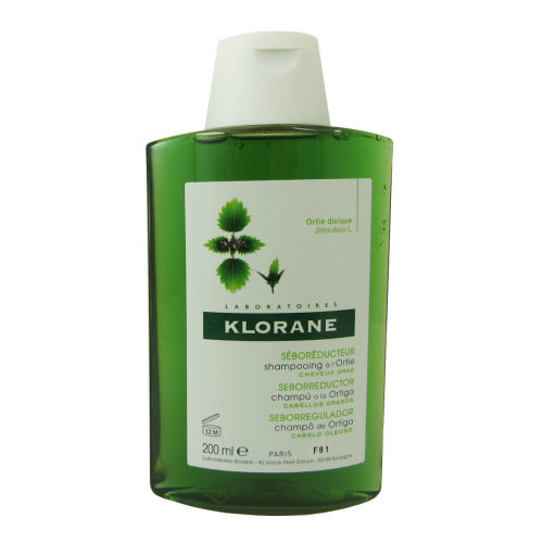Klorane Oily Hair White Nettle Shampoo 200ml