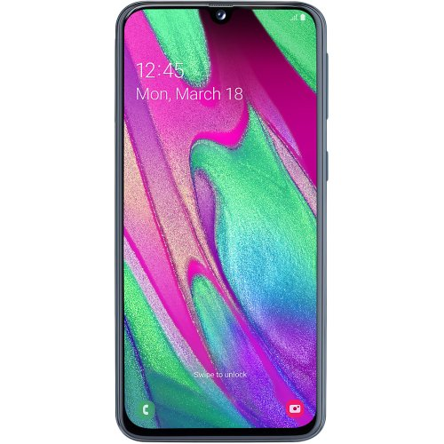 (Unlocked, Black) Samsung Galaxy A40 Dual Sim | 64GB | 4GB RAM - Refurbished