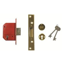 ERA 261 BS 5 Lever Fortress Mortice Deadlock 67mm Polished Brass