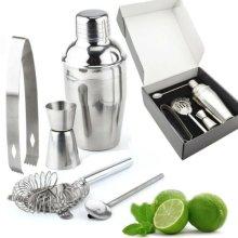 5pc Manhattan Stainless Steel Cocktail Shaker Set