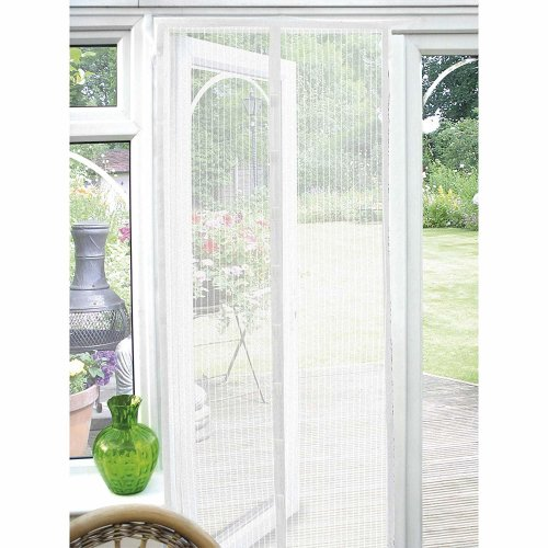 (White) GEEZY Magnetic Mesh Insect Curtain | Insect Screen