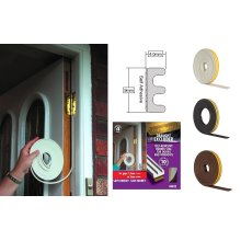 Stormguard EPDM E Profile Self-Adhesive Rubber Draught Excluder 5m