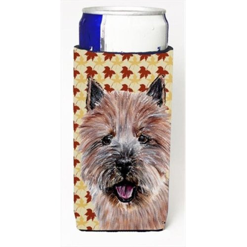 Norwich Terrier Fall Leaves Michelob Ultra bottle sleeves Slim Cans  12 Oz.
