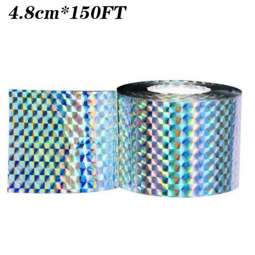 (4.8cm*150FT) Bird Repellent Scare Tape - Keep Away Pigeons, Ducks, Crows and More - Deterrent Tape