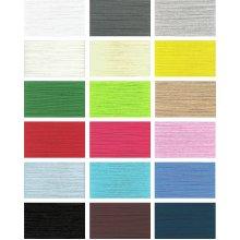 Overlocker Thread, 2500 Metres, 18 Colours, 2 Reel Set