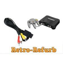 Nintendo 64 N64 TV Lead RCA AV Composite Cable RF Cable