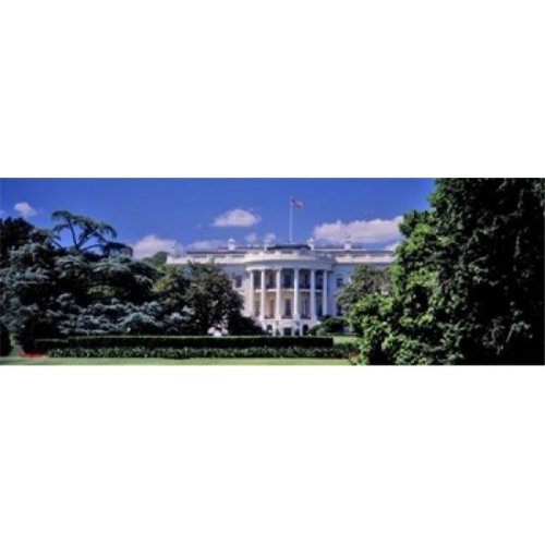 Facade of the government building  White House  Washington DC  USA Poster Print by  - 36 x 12
