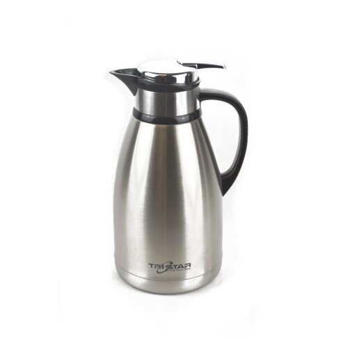 (Silver) Stainless Steel 2L Vacuum Insulated Jug Flask