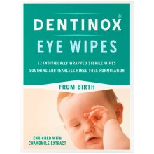 Dentinox 12 Individually Wrapped Sterile Eye Wipes from Birth