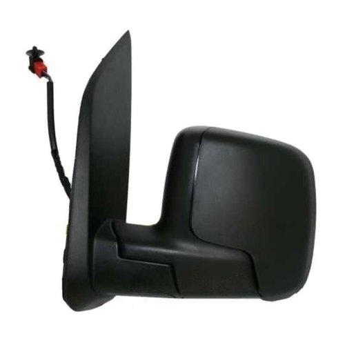 Fiat Qubo Van 2008-> Electric Adjust Wing Door Mirror Black Cover Passenger Side