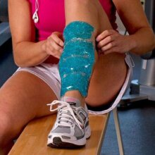 TheraPearl Shin Wraps Calf Leg Muscle Pain Hot and Cold Ice Gel Pack
