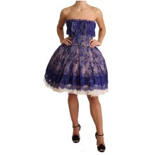 Purple Lace Ballerina Tulle Strapless  Dress