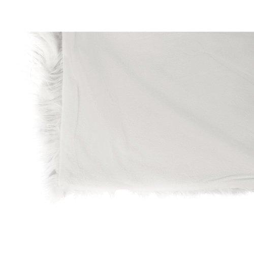 Faux Fur Bedspread 200 x 220 cm White DELICE