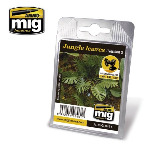Ammo by Mig Laser Cut Plants 8461 - Jungle Leaves (Version 2)