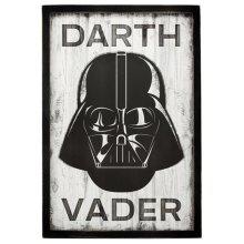 Star Wars 90169089-S Darth Vader Rustic Wood Framed Wall Decor