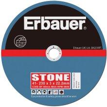 ERBAUER STONE CUTTING DISCS 230 X 3 X 22.23MM (5 PACK)
