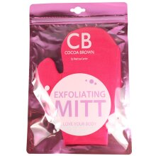 Cocoa Brown Double Sided Exfoliating Tanning Mitt Pink