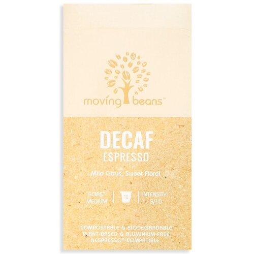 Decaf Espresso (10 Capsules)| Moving Beans Coffee | Biodegradable Compostable Nespresso Compatible Capsules