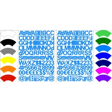 Alphabet Letters & Numbers Stickers Label  Peel Off Sticky 1.8cm High Mixed