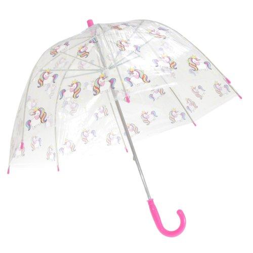 X-Brella Kids' Transparent Unicorn Print Stick Umbrella | Dome Umbrella