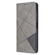 NOKIA G20 Case Flip Cover Splicing PU Leather -Gray
