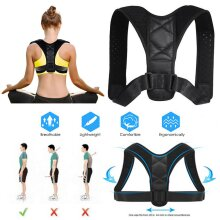 Kabalo Adjustable Posture Corrector Back Shoulder Belt Lumbar Spine Support Body Brace Strap