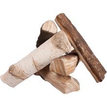 Decorative ceramic wooden logs MIX - Kratki
