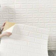 70×77cm 3D Tile Brick Wall Stickers Self-adhesive Wallpaper Foam Panel 10 Pcs