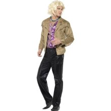 Smiffy's Men's Zoolander Hansel Costume With Trousers, Jacket With Attached -