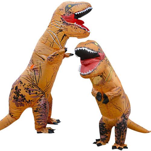 Adult Kids Halloween T-REX Inflatable Dinosaur Costume Jurassic Dress