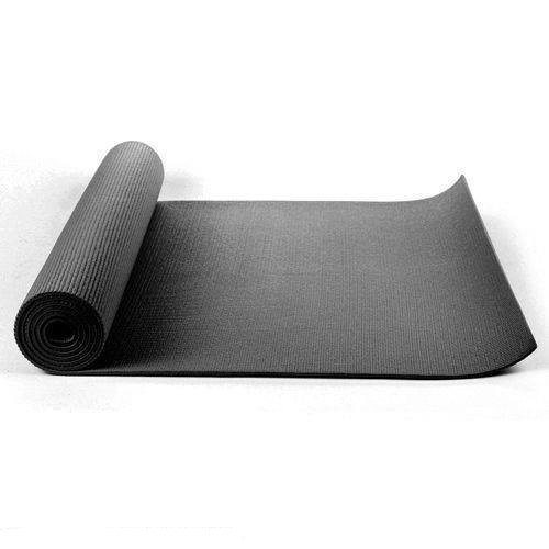 Kabalo - 173cm long x 61cm wide - EXTRA THICK Black 6mm - Non-Slip Yoga Mat with carry strap, also for Exercise / Pilates  / Gym / Camping, etc