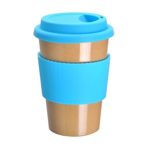 OLPRO Bamboo Travel Mug - Blue