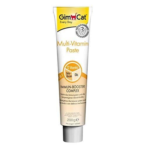 GimCat Multi-Vitamin Paste - This healthy cat snack activates and strengthens the immune system - 1 tube (1 x 200 g)
