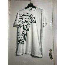Versace White Black Medusa Print Top T-Shirt