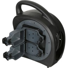 SMJ Outdoor 2 Gang Extension Lead Box - 20m   Waterproof Cable Reel