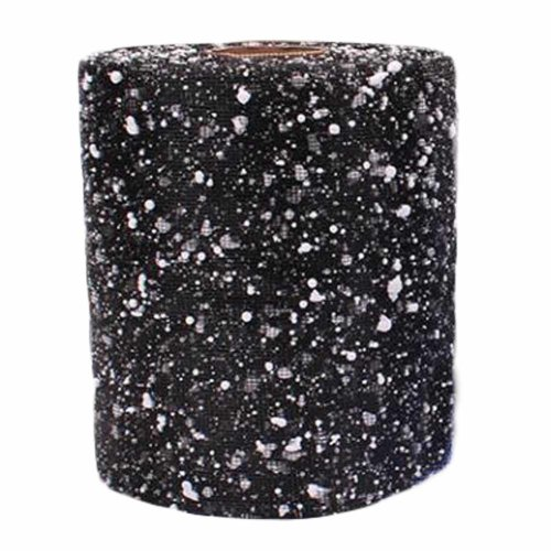 Black Flower Wrapping Paper Mesh Snow Florist Supplies Gift Wrapping Paper Roll
