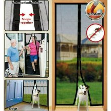 Brown Magic Mesh Mosquito Fly Insect Bug Curtain Magnetic Guard Door Net Screen