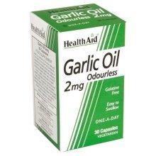 HealthAid Vegan Garlic Oil Odourless 2mg 30 Capsules