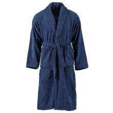 vidaXL Unisex Terry Bathrobe 100% Cotton Navy XXL Clothes Nightwear Loungewear