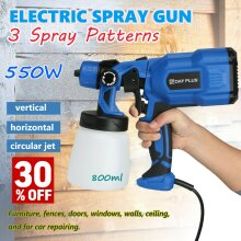 Universal Paint Sprayer 550W Electric Sprayer for Wall Ceiling/Wood  Metal Paint