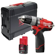 Milwaukee M12 CDD-202X Fuel Compact 2 Speed Drill With Case 2x Battery