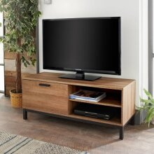 """Detroit TV Unit Black Metal Base, and Handles Suitable For TV Screens up to 55""""."""