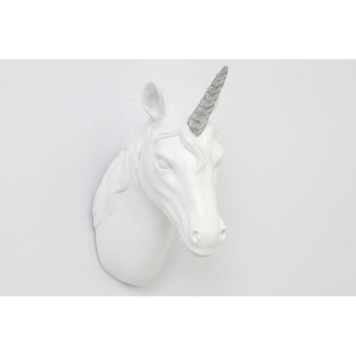 Wall Hanging White Unicorn Head Home Office Decoration